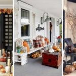 20 FALL PORCH DECORATIONS – Front Porch Fall Decorating Ideas