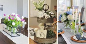 20 SIMPLE DINING TABLE CENTREPIECE IDEAS - Dining Room Table Decor Ideas