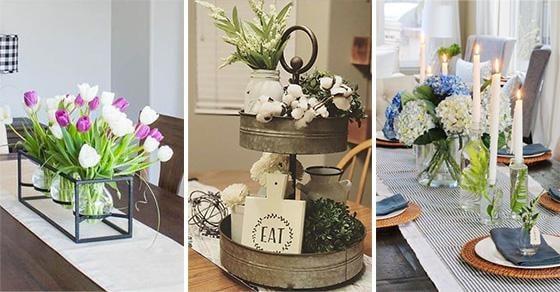 20 SIMPLE DINING TABLE CENTREPIECE IDEAS - Dining Room Table Decor Ideas