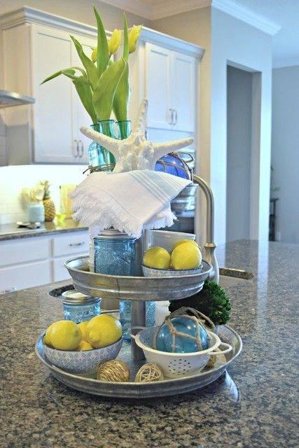 A Seaside Ambience - Lemons and Blue Glass