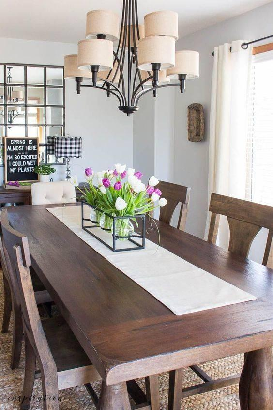 Welcoming Spring - Dining Room Table Decor Ideas