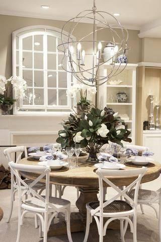A Giant Bouquet - Dining Room Table Decor Ideas