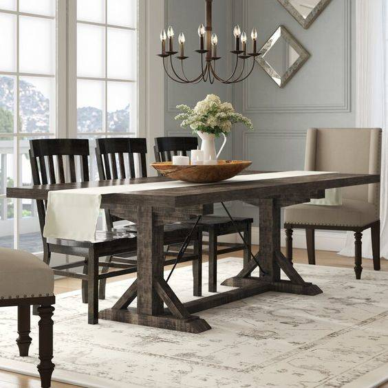 Classic and Dark - Dining Room Designs