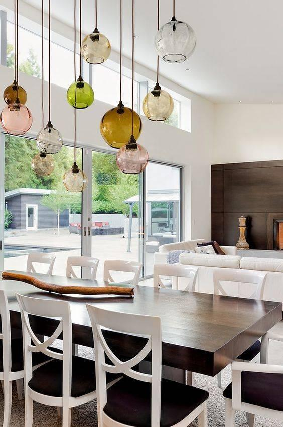 Vibrant and Vivid - Dining Room Lighting Fixture Ideas