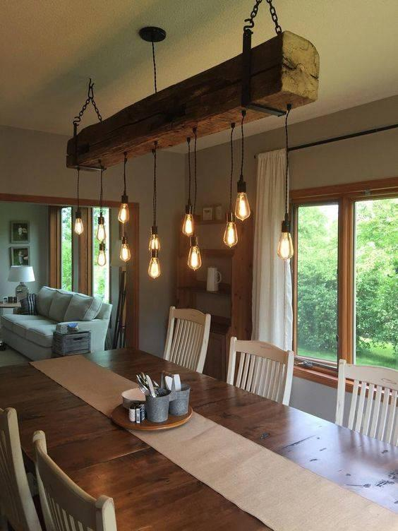 Fun in Farmhouse - A Barn Beam Fixture
