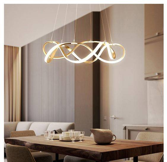 A Swirl of Lights - Modern Dining Room Lighting Designs