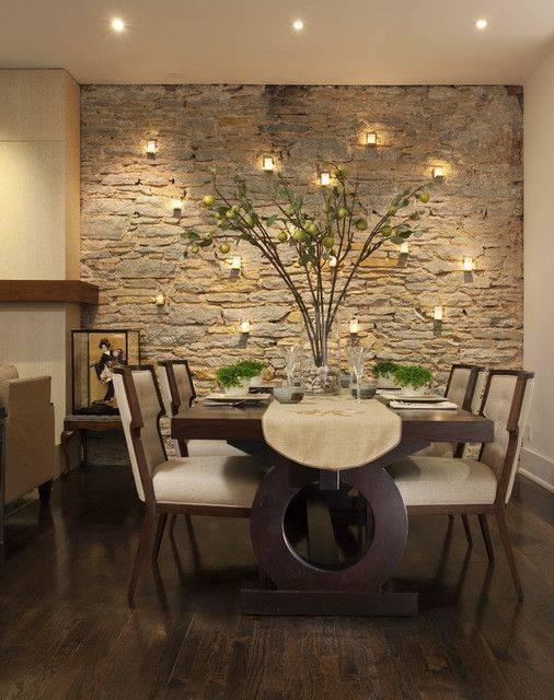 A Set of Wall Lights - Dining Room Wall Ideas