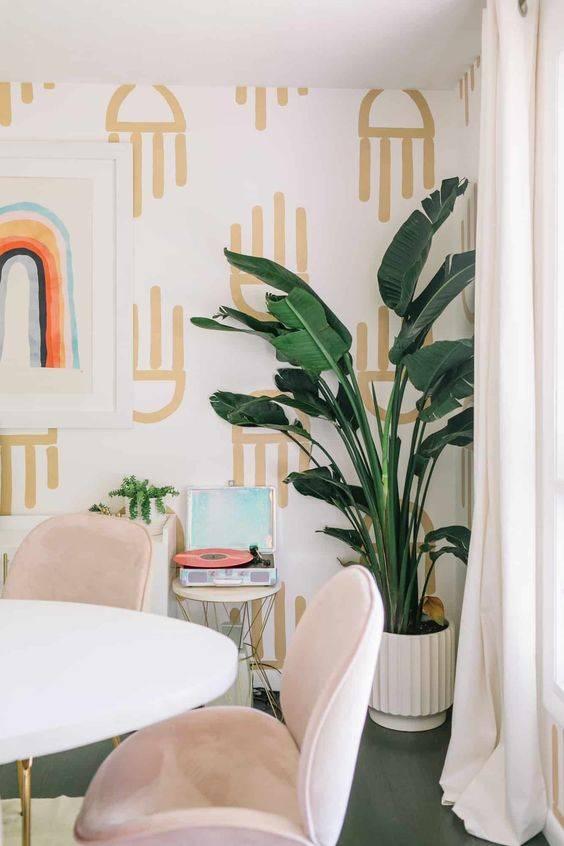 A Fun Wallpaper - Dining Room Wall Ideas