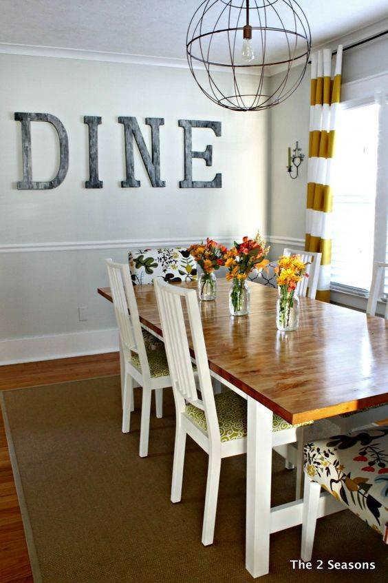 Spell Out a Word - Dining Room Wall Decor Ideas