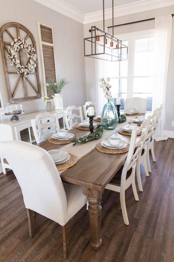 Floral Farmhouse Elements - Dining Room Wall Decor Ideas