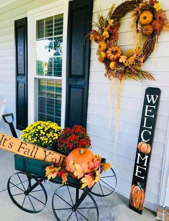 Bringing the Season Home - Fall Front Porch Decorating Ideas