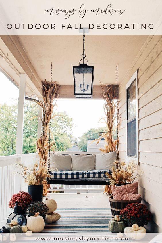 Simplistic and Natural - Fall Porch Decorations