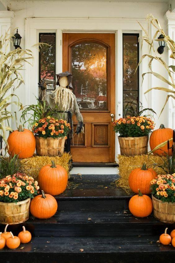 Add a Scarecrow - Front Porch Fall Decorating Ideas