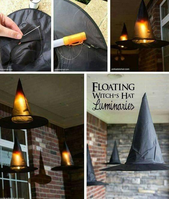 Floating Witch Hats - Unique Luminaries