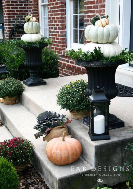 Fabulous Pumpkin Topiaries - Fall Porch Decorations
