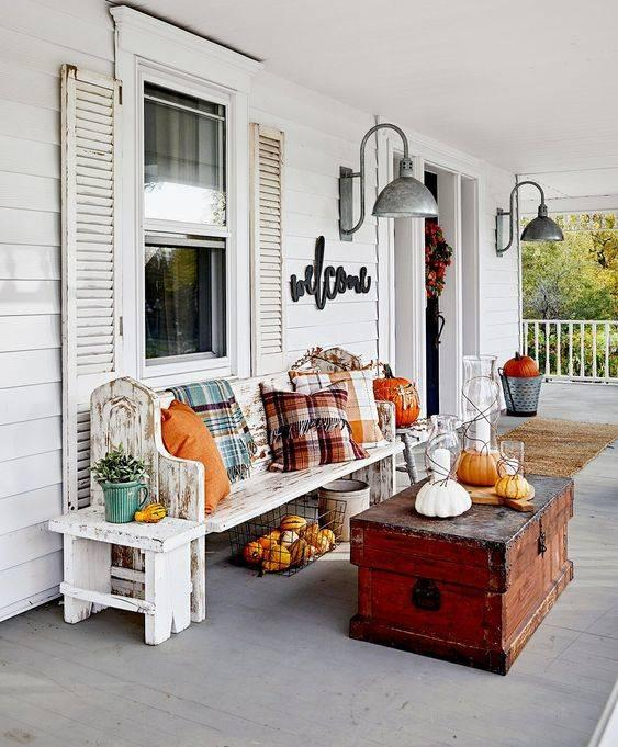 Create a Cosy Space - Front Porch Fall Decorating Ideas