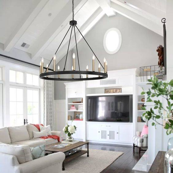 A Hoop Chandelier - Modern and Fun