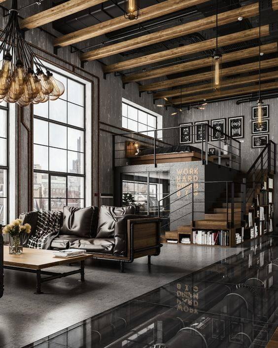 Monochrome and Wood - The Industrial Style