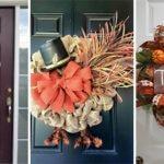 20 THANKSGIVING DOOR DECORATING IDEAS – Thanksgiving Wreaths for Front Door