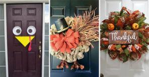 20 THANKSGIVING DOOR DECORATING IDEAS - Thanksgiving Wreaths for Front Door