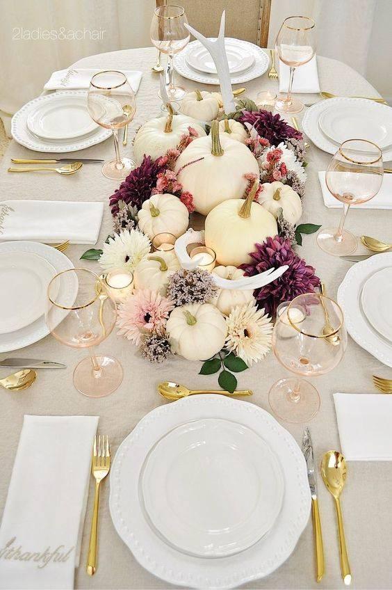 Add a Burst of Colour - Thanksgiving Centrepiece Ideas