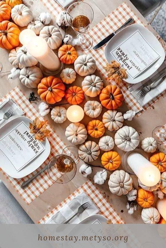 A Plentitude of Pumpkins - Thanksgiving Centrepiece Ideas