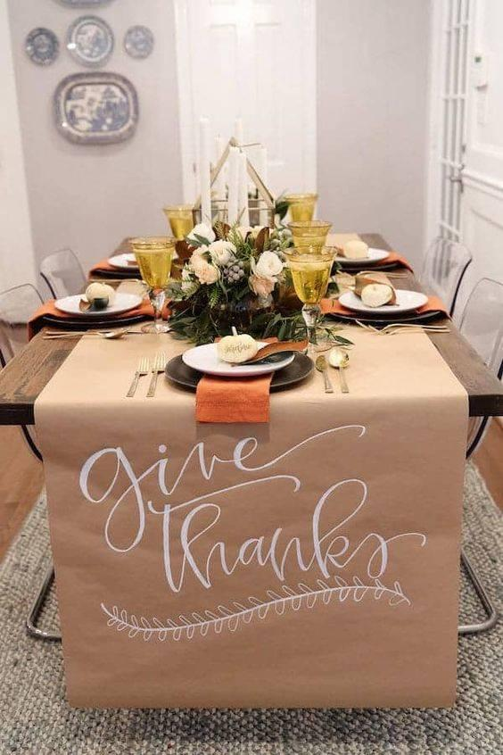 Your Guests Have a Say - A Table Runner