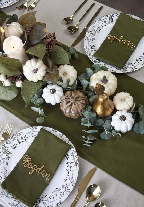 Amazing in Green - Thanksgiving Table Decor Ideas
