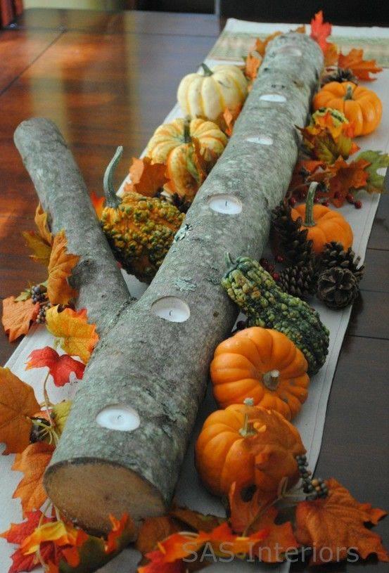 A Long Log - A Unique Candle Holder
