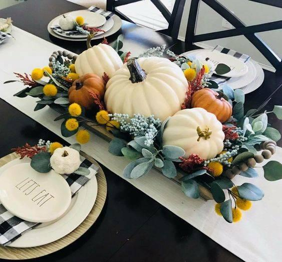 A Tray Arrangement - Thanksgiving Centrepiece Ideas