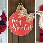 20 SANTA CLAUS DOOR DECORATIONS – Santa Claus Wreath Ideas