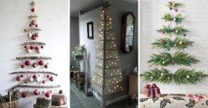 20 WALL HANGING CHRISTMAS TREE - Wall Christmas Tree Ideas