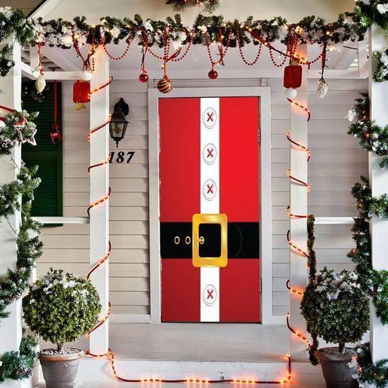 Cover the Front Door - Santa Claus Door Decorations