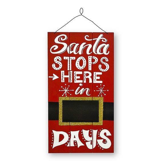 The Christmas Countdown - Santa Claus Wreath Ideas