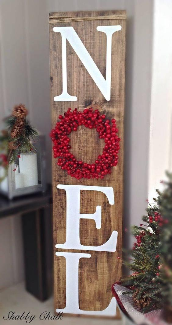 A Wooden Welcome Sign - The First Noel
