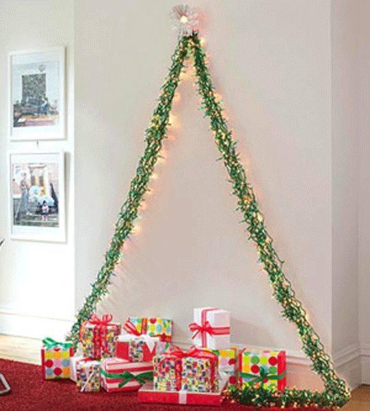 Simplistic and Minimalistic - Wall Christmas Tree Ideas