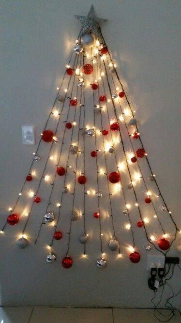 Cascades of Fairy Lights - Wall Hanging Christmas Tree
