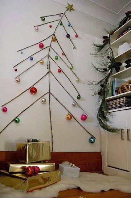 A Groovy Vibe - Thin Branches and Big Ornaments