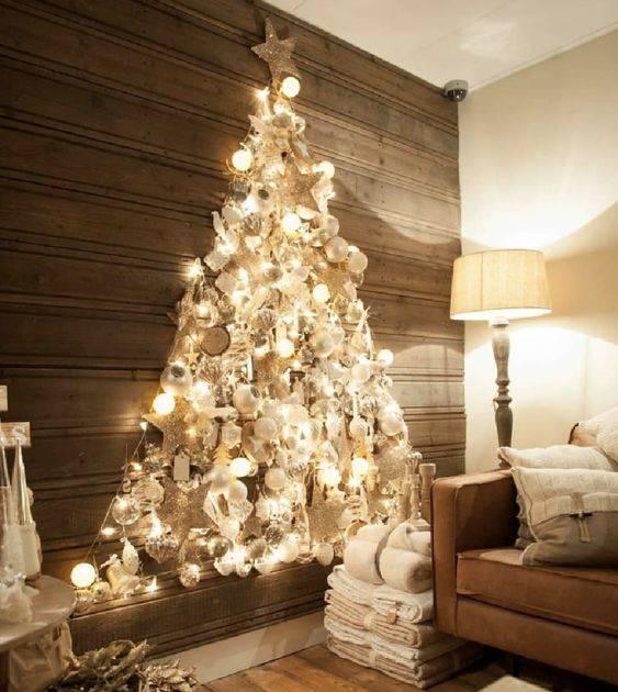An Abundance of Decorations - Wall Christmas Tree Ideas