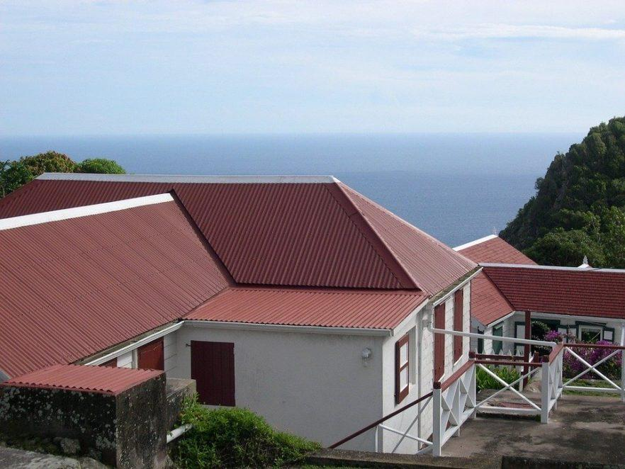Roof, Building, Tin, Red, Architecture, Construction